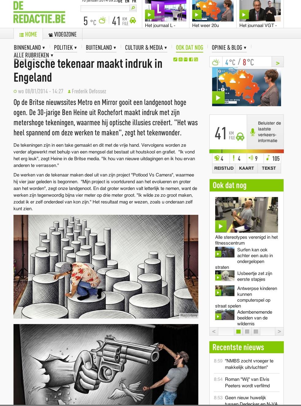 Ben Heine Art - VRT - De Redactie - Belgie (January 2014)