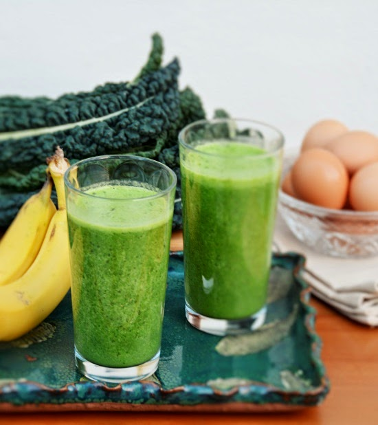 You may want to see this photo of kale smoothie
