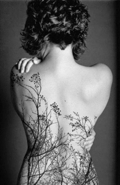 Amazing Tree Tattoo on Backside for sexy women