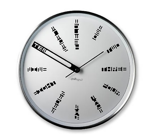 Unusual Wall Clock For Contemporary Room Design