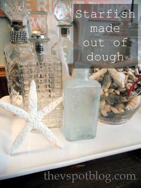 Coastal Inspired decor - starfish made from salt dough. DIY