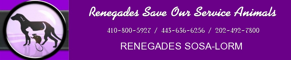 RENEGADES SAVE OUR SERVICE ANIMALS