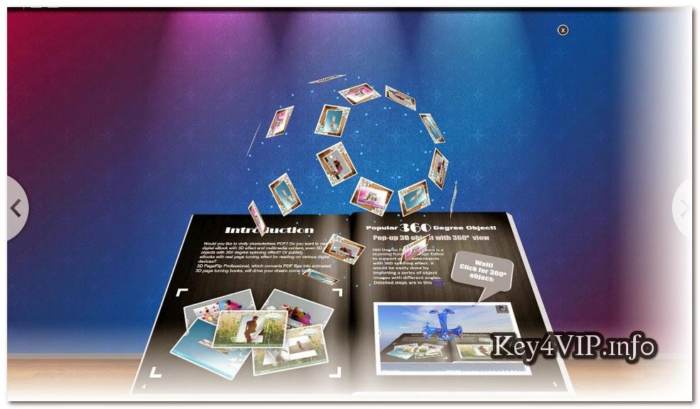 3D PageFlip Professional 1.7.7 Full Key,Phần mềm Tạo hiệu ứng lật trang 3D cho tập tin PDF