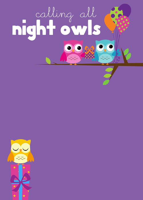My Owl Barn: Printables For Owl Themed Sleepover Party