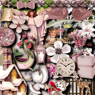 Free scrapbook christmas kit from Miriams-scrap