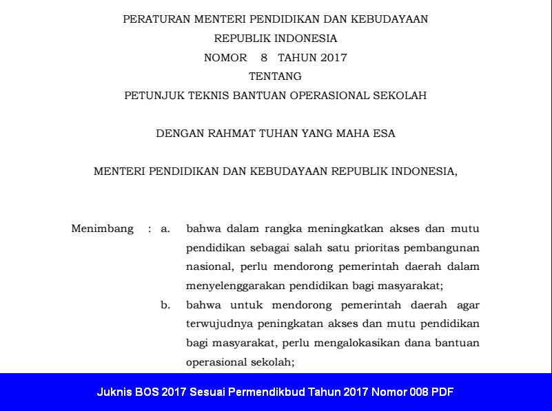 Image Result For Download Permendikbud Juknis Bos