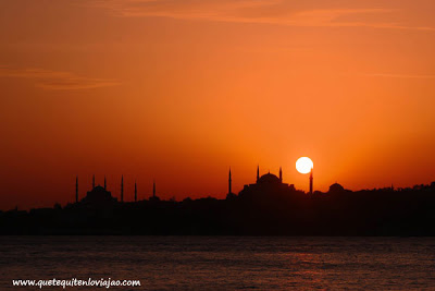 Atardecer en Estambul - Viaje a Turquia