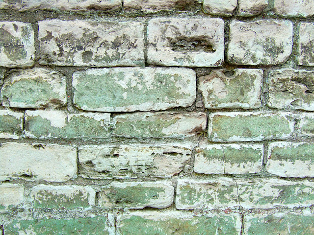 Old abbey sandstone brick wall