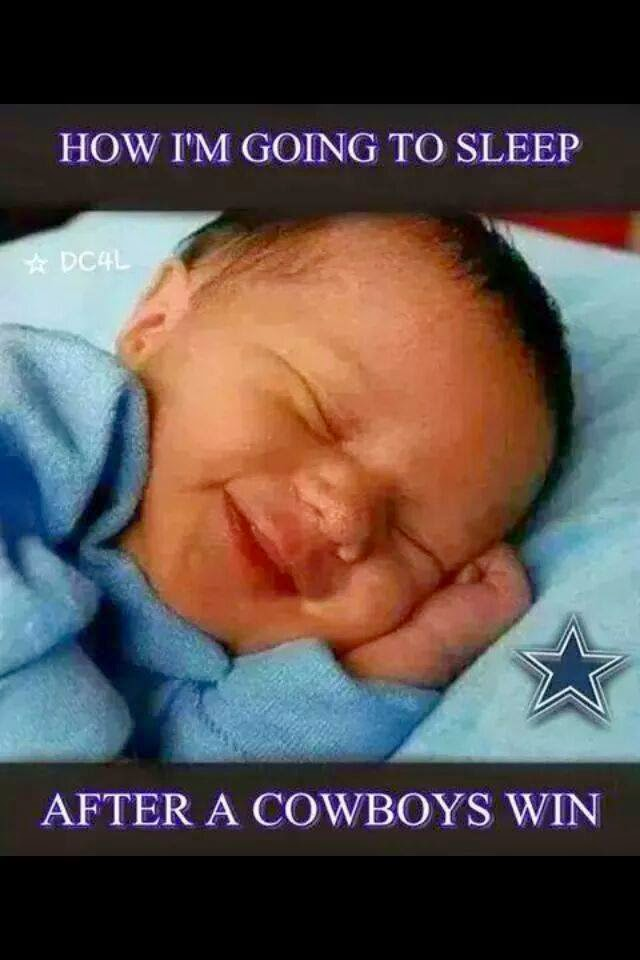how I'm going to sleep after a cowboys win