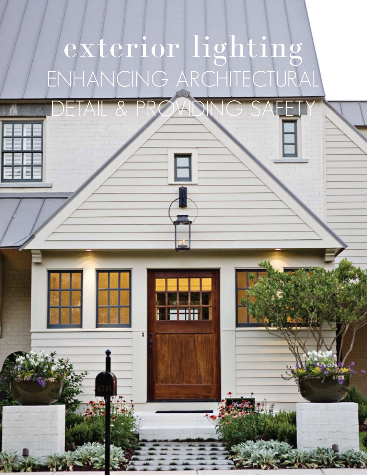 Ourso Designs Exterior Lighting Enhancing Architectural Detail And Providing Safety