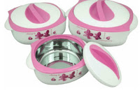 Buy Nayasa Design Pink Coloured Casserole, Set of 3 Pcs at Rs 429 Via pepperfry :Buytoearn