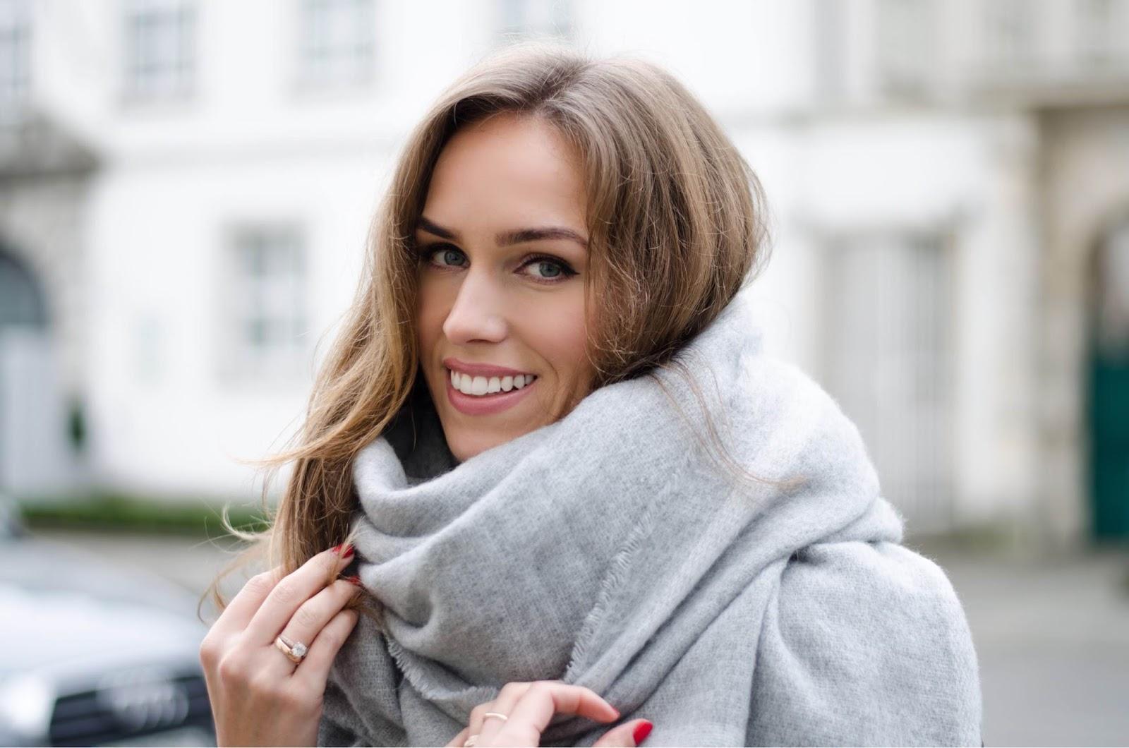 kristjaana mere zara oversized gray wool scarf