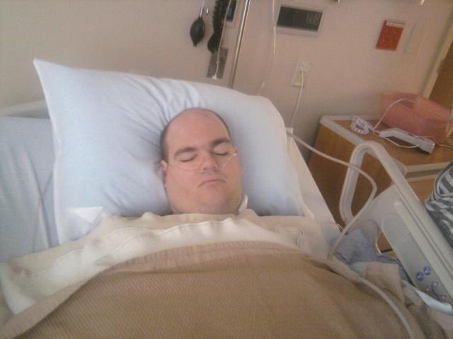Preston after his surgery