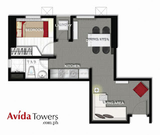 Avida Towers San Lorenzo One Bedroom Unit Plan