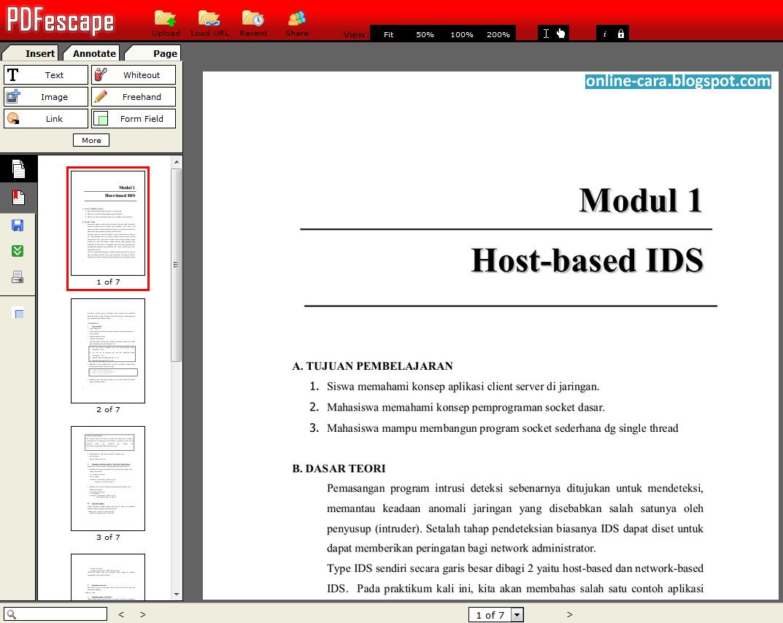 Cara Edit PDF Online