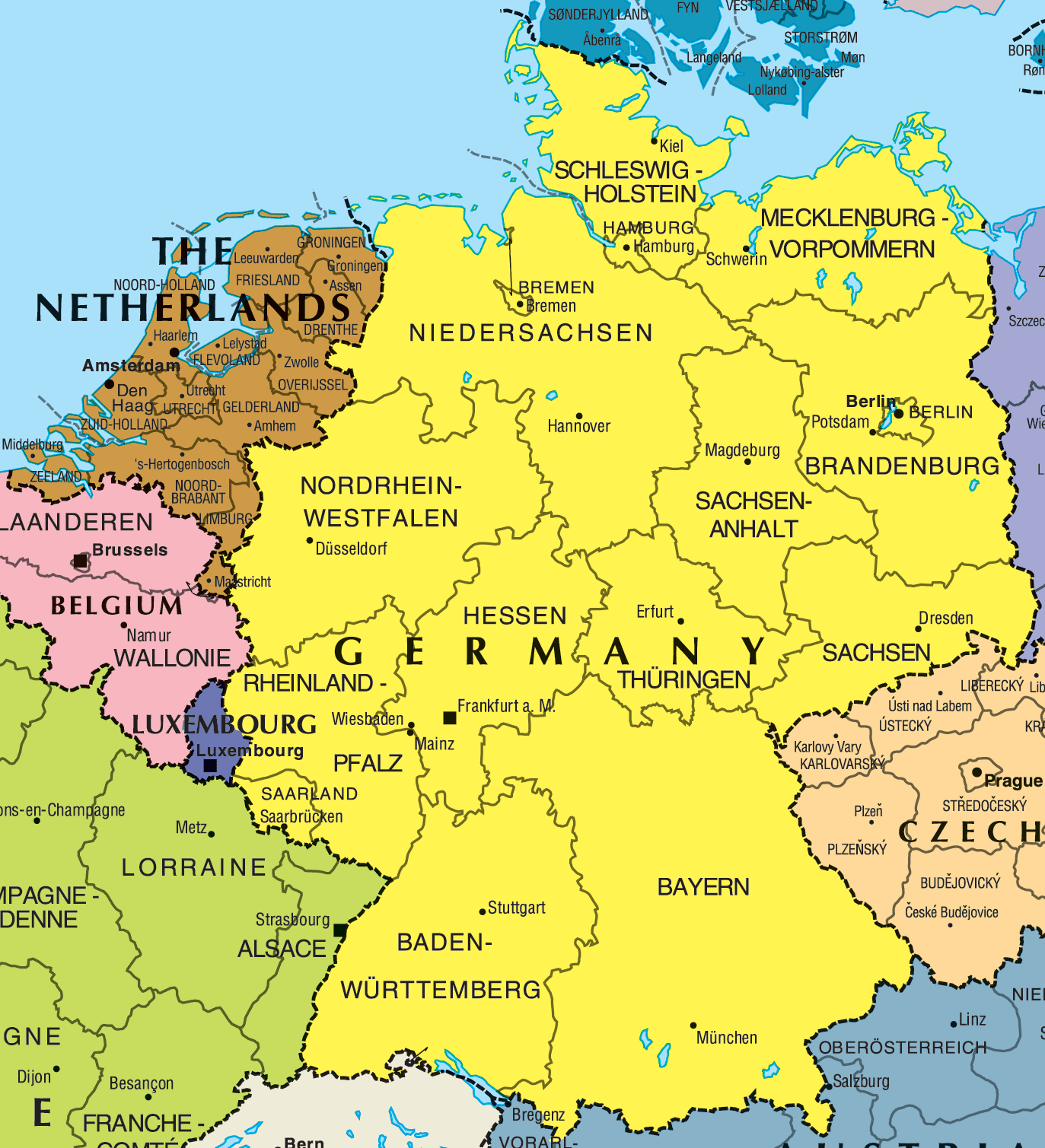 Germany Map Hd