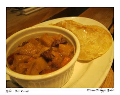 Image of Roti Canai at Gobo Vegetarian restaurant in NYC, New York