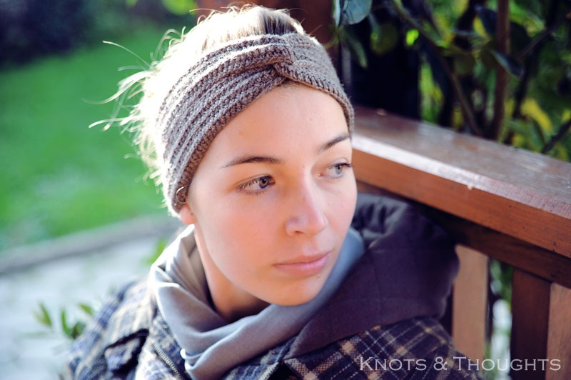 Free Crochet Pattern For Turban Headband : Knots and Thoughts: Crochet turban headband - FREE PATTERN