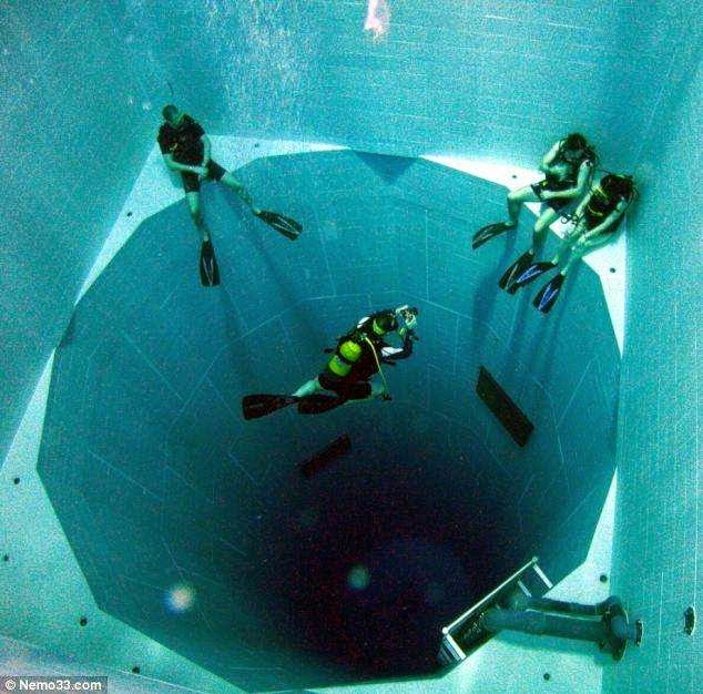 46 Unbelievable Photos That Will Shock You - World's Deepest Swimming Pool – 113 Ft. Deep and Holding 600,000 Gallons