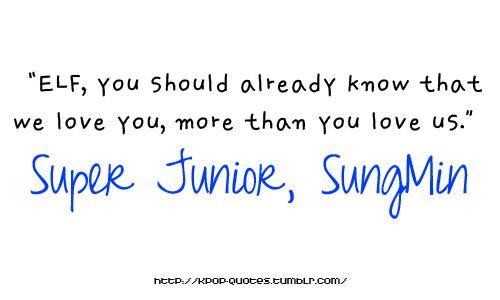 LAST FANTASY: SUPER JUNIOR SUNGMIN QUOTES