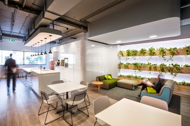 interior design Zimmer head office by Gray Puksand