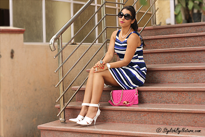 Celebrity Stripe Dress