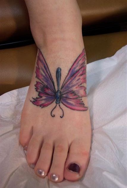 information technology butterfly foot tattoos. Black Bedroom Furniture Sets. Home Design Ideas
