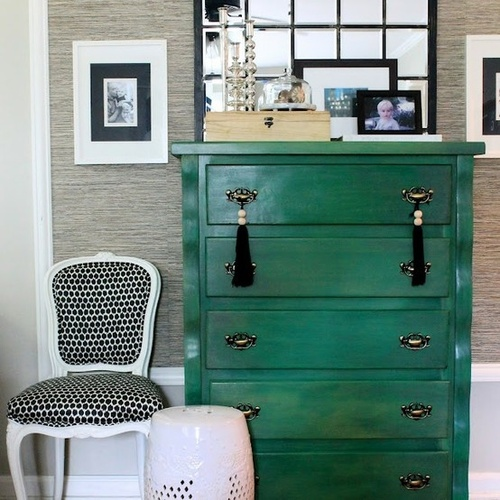 Great Green Laqured Desk!