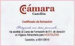 Tengo Certificado de Manipulador de Alimentos - Higiene Alimentaria para Hostelería ...
