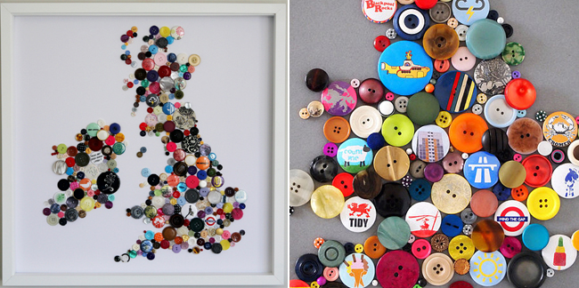 Lily Loves: Button art... ~ Lily in the Labyrinth