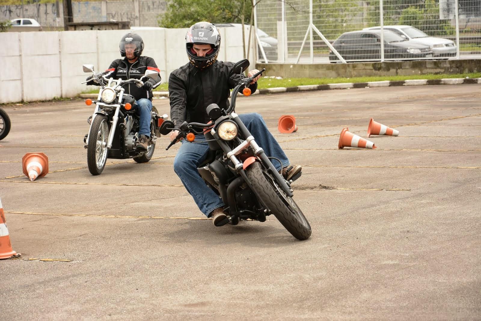 Posição adequada para curvas fechadas e de baixa velocidade.