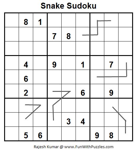 Snake Sudoku (Fun With Sudoku #24)