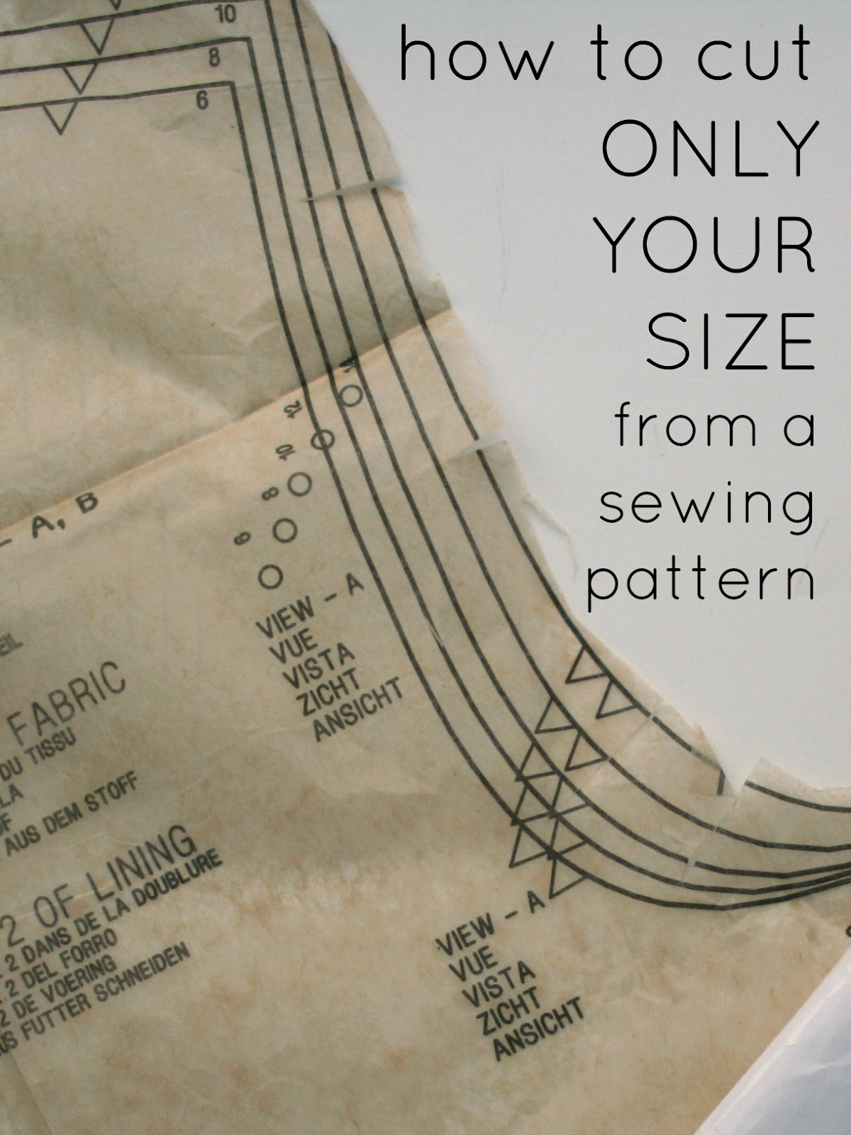 Nice Sewing Pattern Sizes Pictures - Easy Scarf Knitting Patterns ...