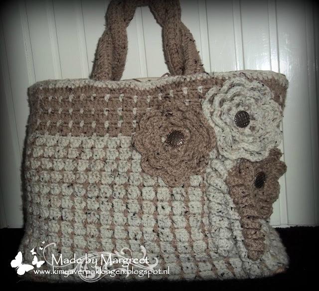 Tas Zelf Ontwerpen : Kimya verpakkingen gehaakte jute tas