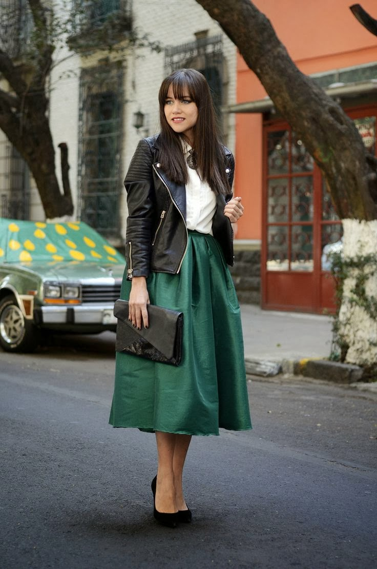Craving] Emerald Green Midi Skirts | South Molton St Style