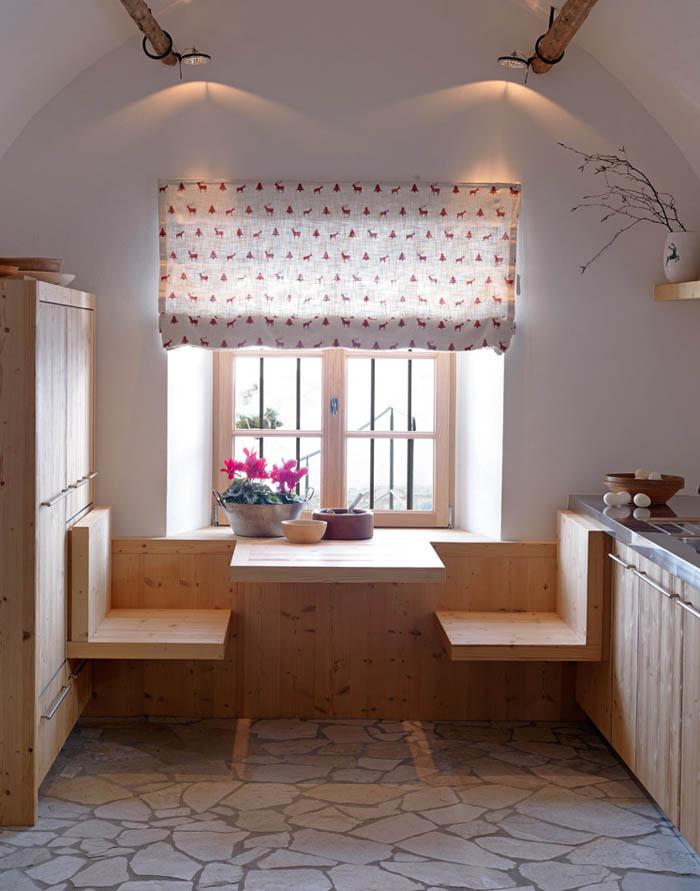 una casa rustica moderna - mesa de cocina diseño