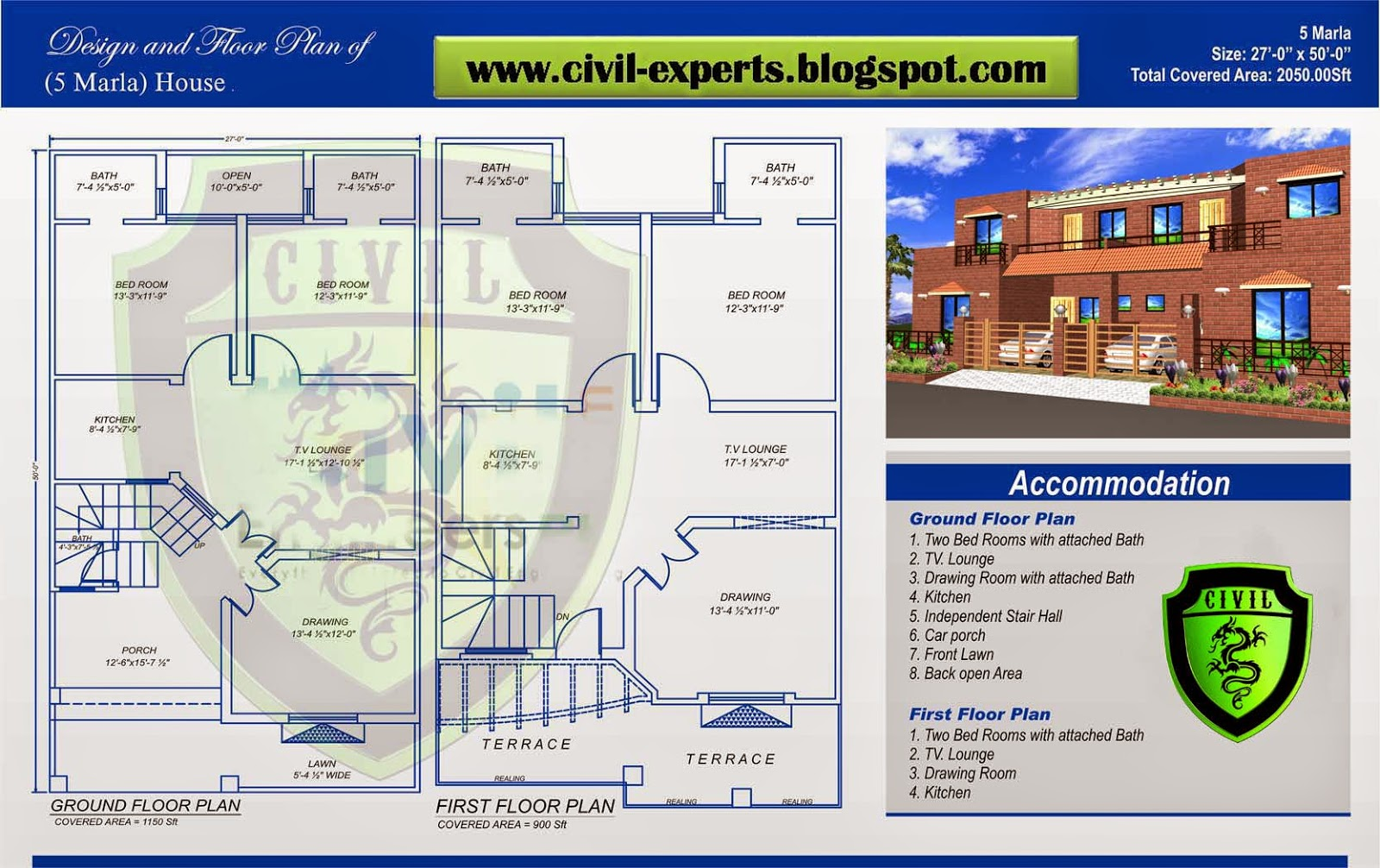 5 Marla House Plan Images Modern House