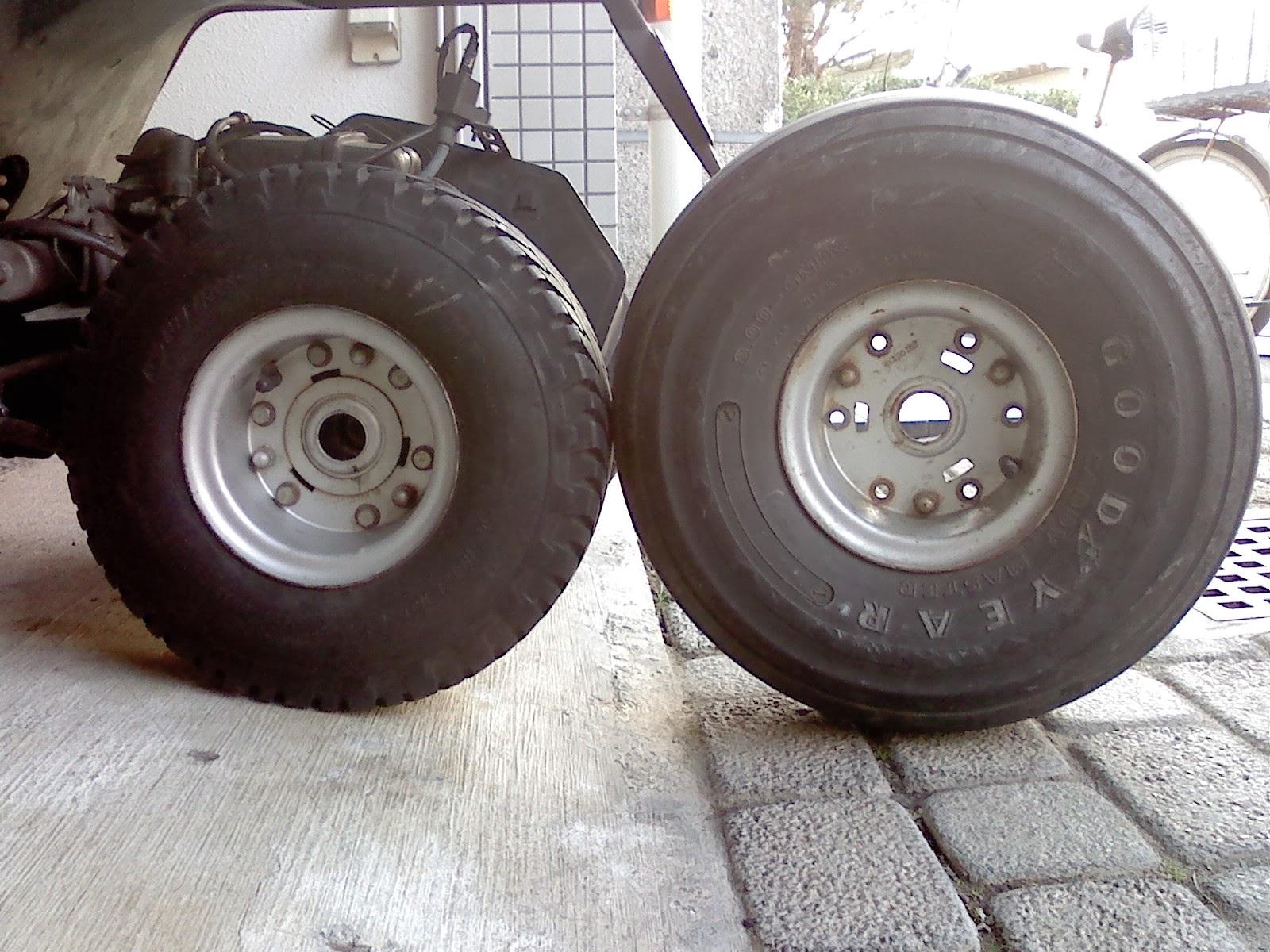 タイヤ交換新旧比較