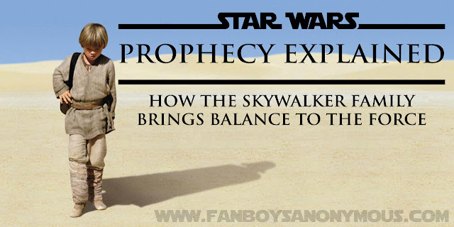 Star Wars balance to the force explained theory prophecy