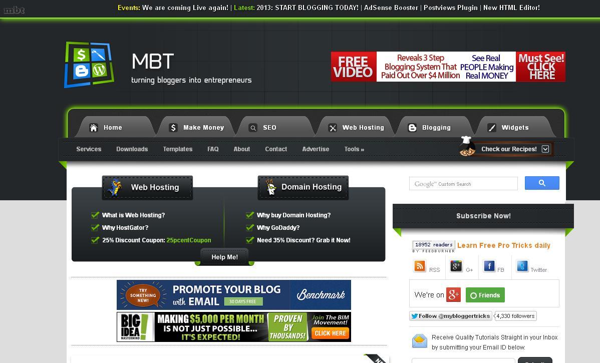My blogger Tricks (MBT) Template Free Download ~ Social Media ...