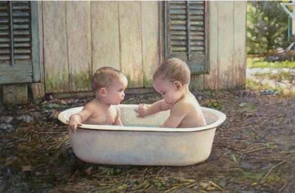 steve hanks pintura hiper realista criança bebê