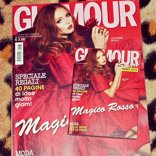 Instagram @lelazivanovic. Glamour Italy December 2014 January 2015