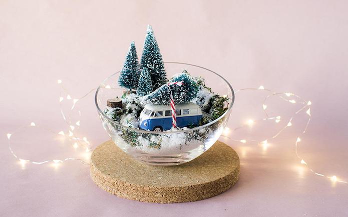 Una pizca de hogar diy centro de mesa navide o blog - Centros de mesa navidenos faciles ...