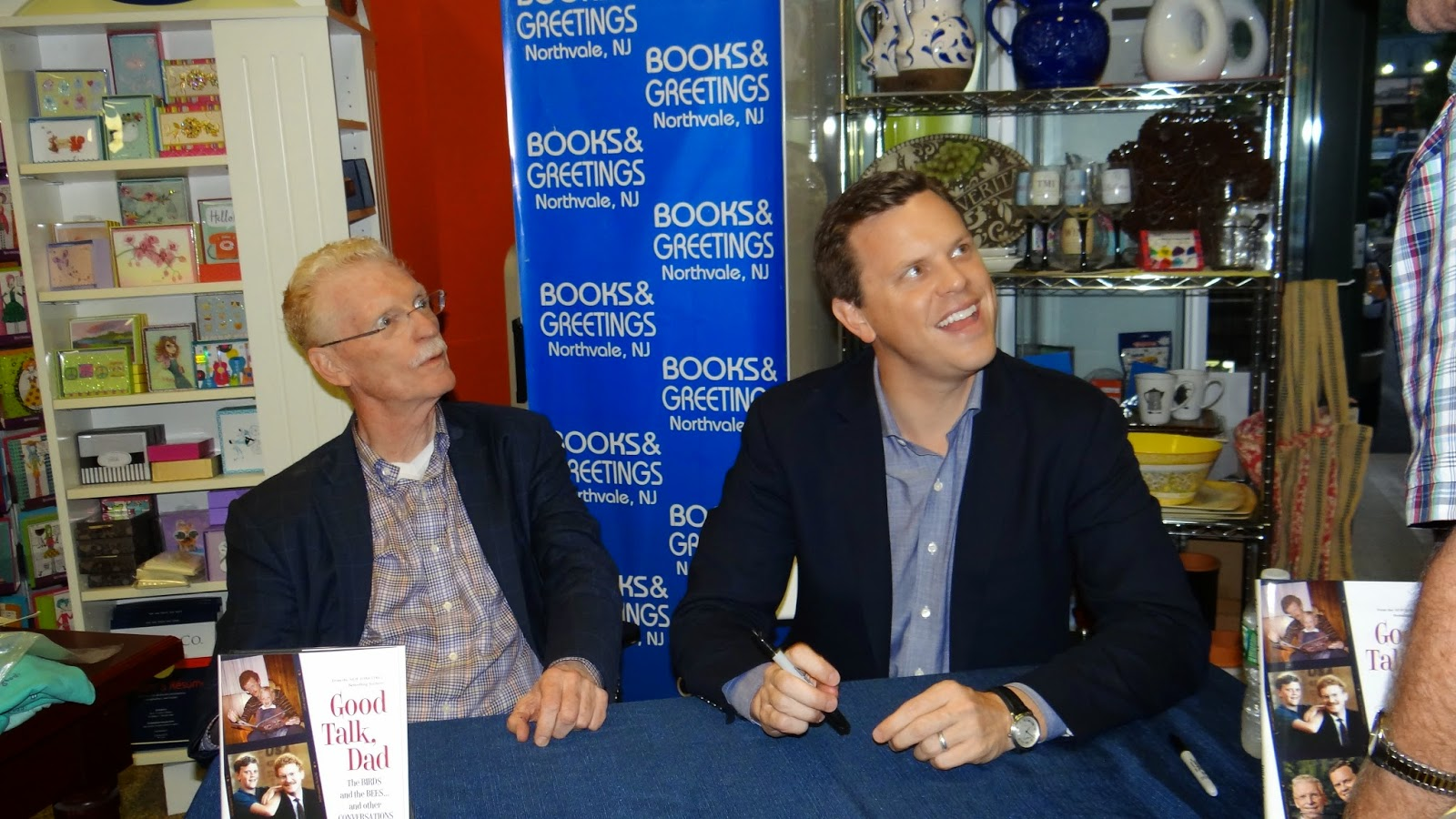 Suzeebehindthescenes bill and willie geists book good talk dad bill geist and willie geist at books and greetings in northvale nj m4hsunfo