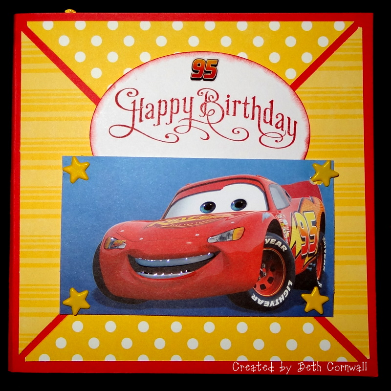 Creations from the Card Cave Lightning McQueen Birthday Card – Lightning Mcqueen Birthday Card
