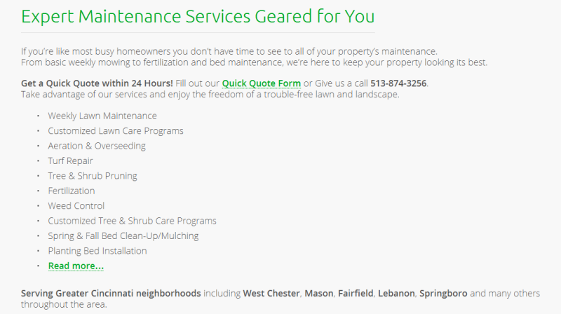 trusted lawn care and landscaping experts in Ohio