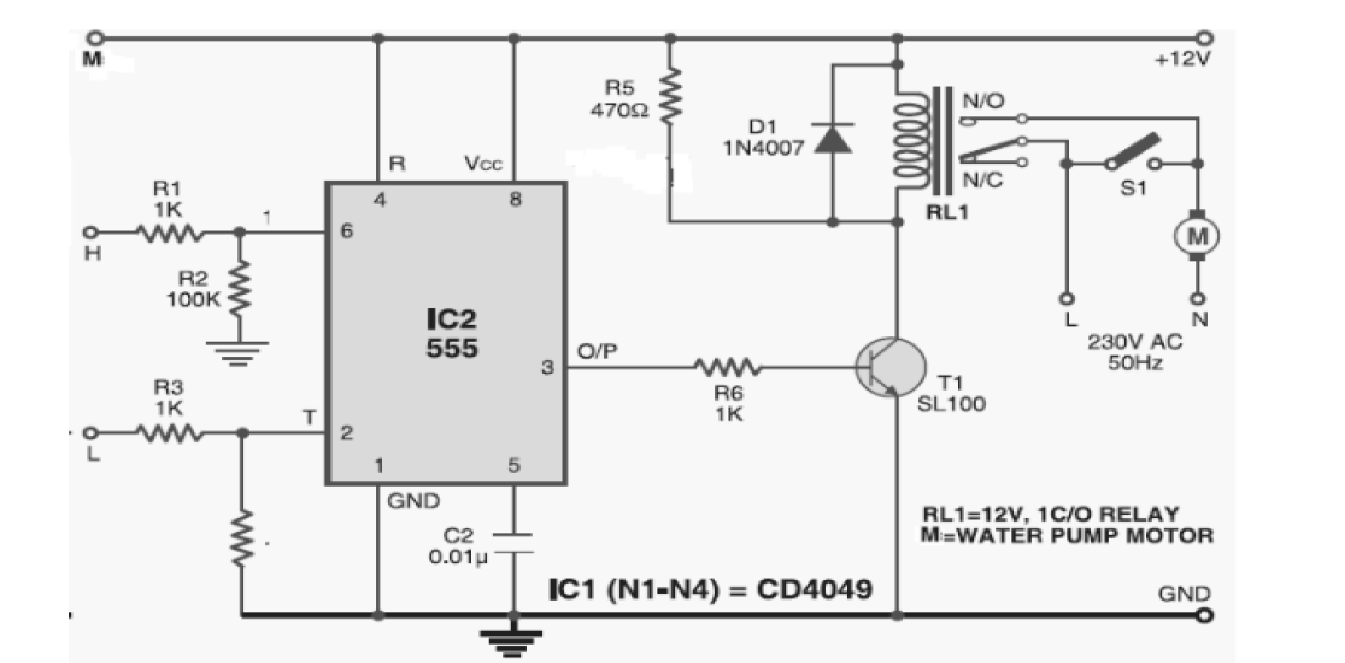 Circuit Diagram Of Water Level Indicator Using Ic 555 Electrical Ne555 Pin Pditec Student Community Controller Timer