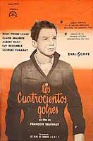 Afiche argentino de 'Los cuatrocientos golpes', que se subasta con una base de $ 700