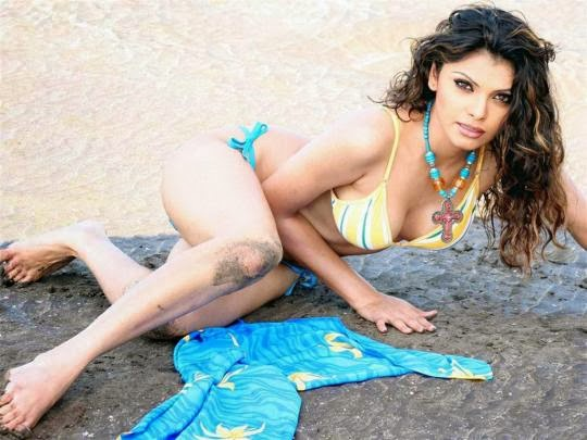 Mona Chopra exposing her hot size zero body and huge big cleavage in her 2 piece bikini on beach latest Unseen rare Hot Pics