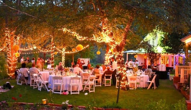 Evening Garden Wedding Reception Event Design Garden Wedding